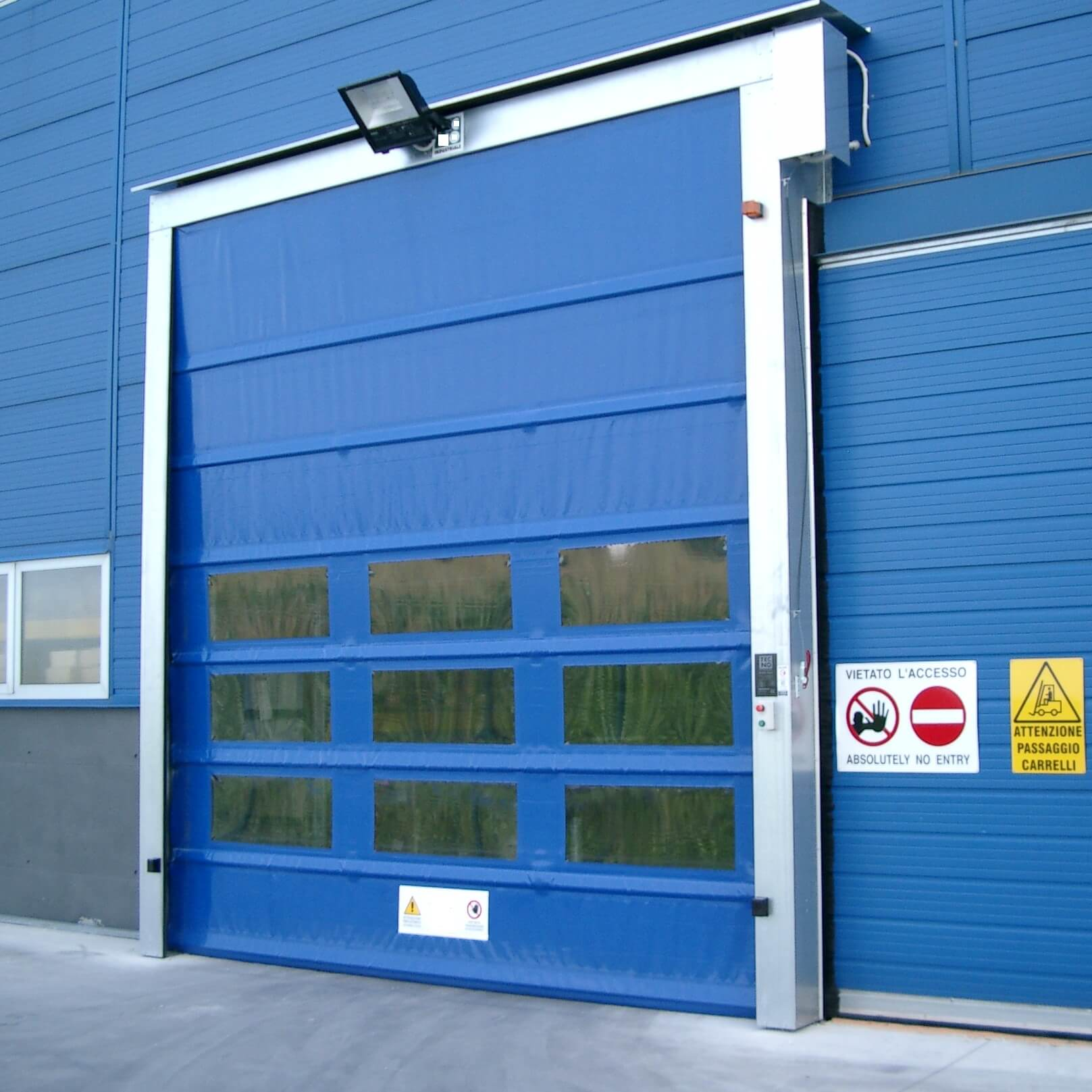 High speed pvc roll up doors techno one automatic