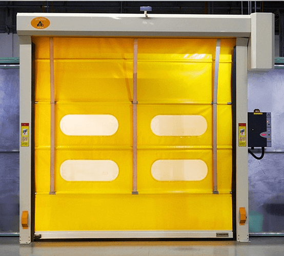 High speed pvc stacking door techno one automatic for Stacking doors